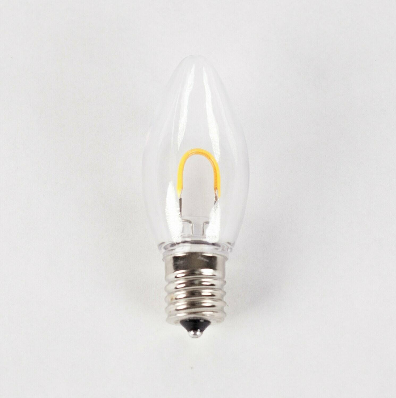 C9 Filament Bulb Warm White 25 Bulbs Box