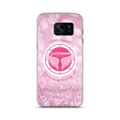 Girl Strong Samsung Phone Case Pink