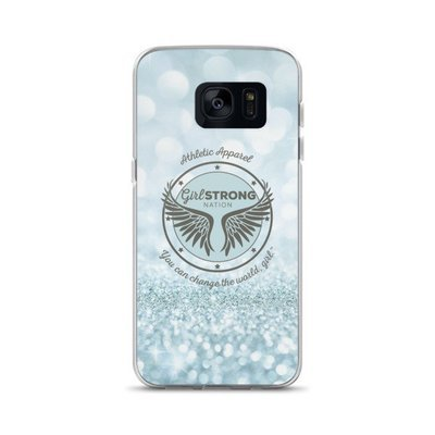 Girl Strong Samsung Phone Case Blue