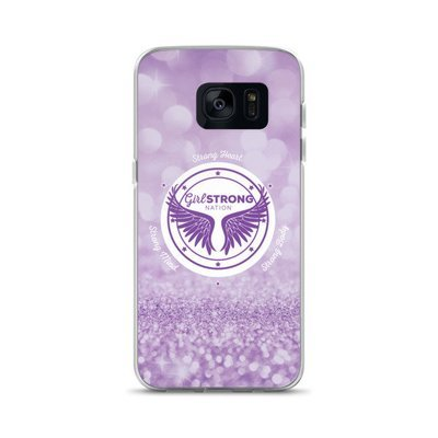 Girl Strong Samsung Phone Case Purple