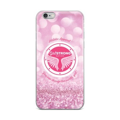 Girl Strong iPhone Case Pink