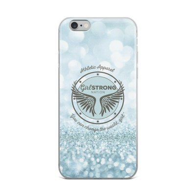 Girl Strong iPhone Case Blue