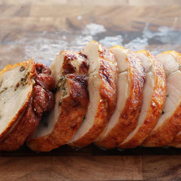 Whole De-boned Chicken Stuffed with Serbian Paprika Sausage 100323