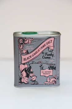 Funky Ouma-Black garlic Salt TIN 320g