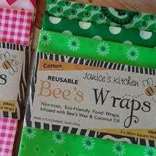 Bee's Wax Wraps 3 Pack- Green