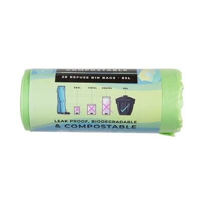 Refuse bags Compostable - 20 per Roll