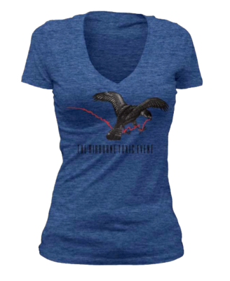 Blue Bird & String (Women's V-Neck)