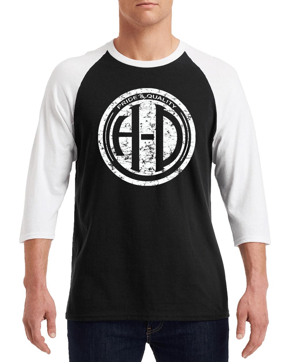 "HARLEY DAVIDSON H-D PRIDE WHITE Logo Gildan G570 3/4 Sleeve Shirt ""FREE SHIPPING"""