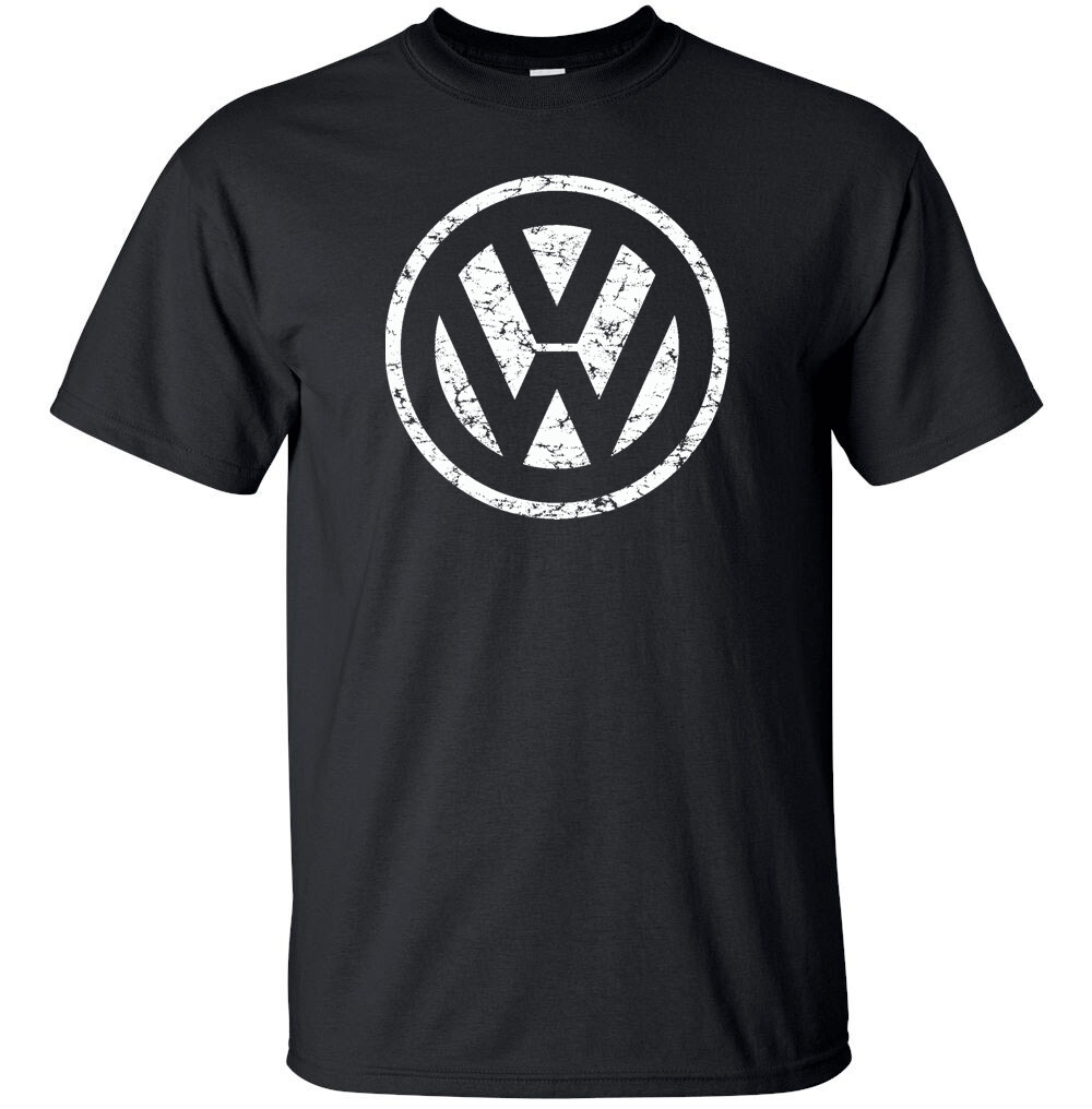 "VOLKSWAGON VW White Distress Logo T-shirt Gildan ""FREE SHIPPING"""
