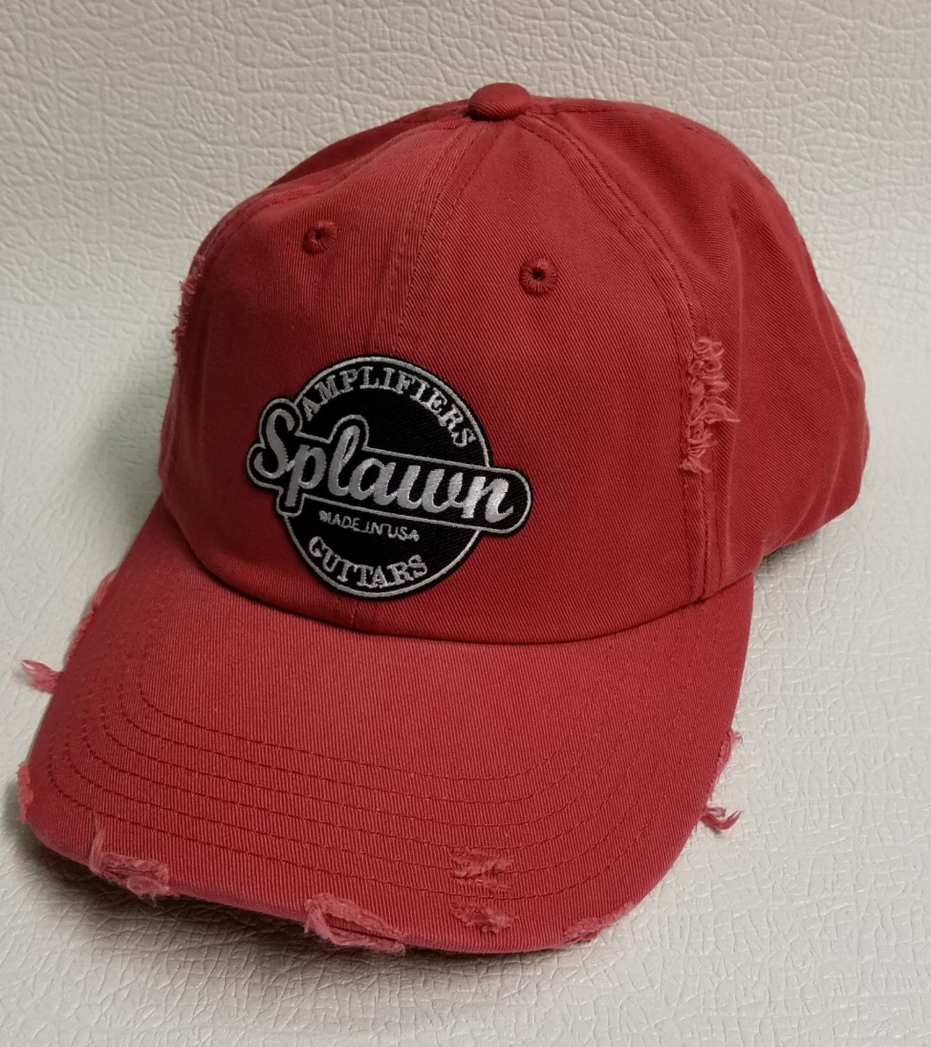 Splawn Amplification Guitars Center Logo District DT600 Distress Cap Dashing Red