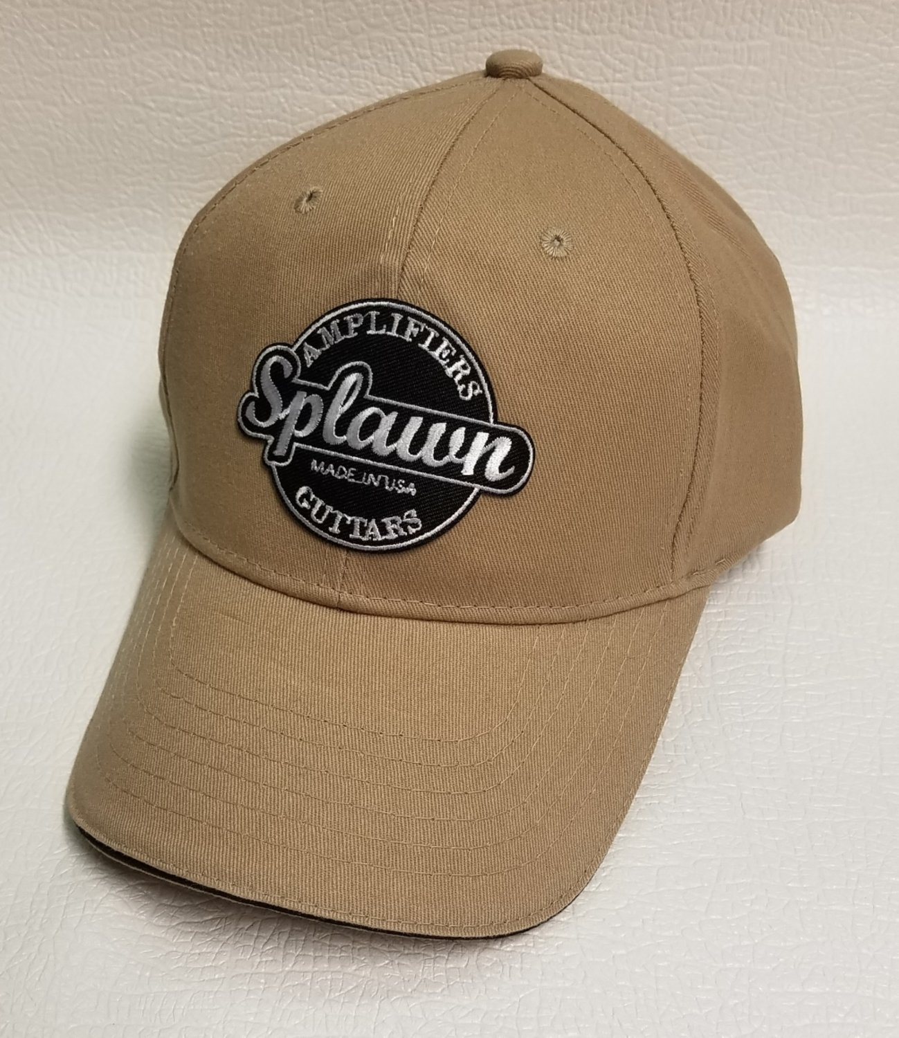 Big Accessories BX004 6-Panel Twill Sandwich Baseball Cap with Splawn logo