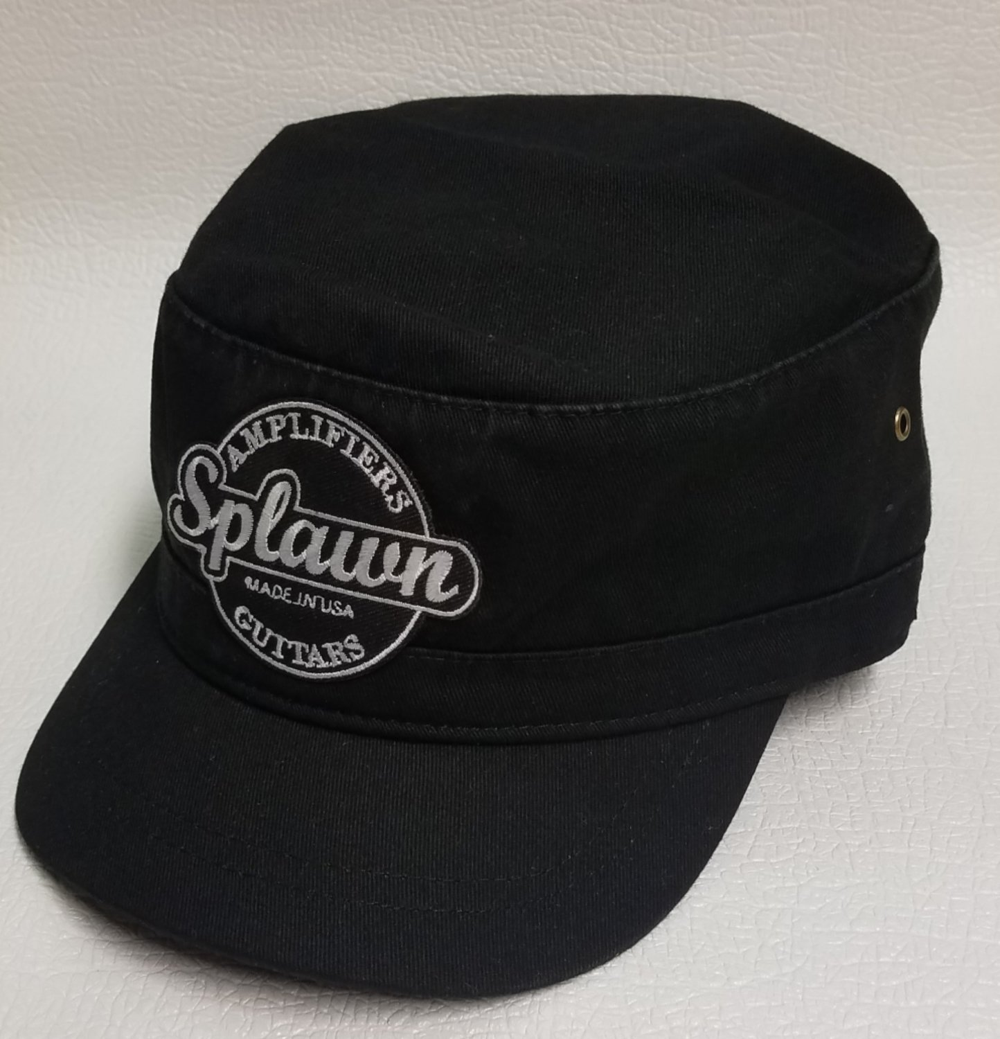 Splawn Amplification Guitars Military Cadet Cap Black