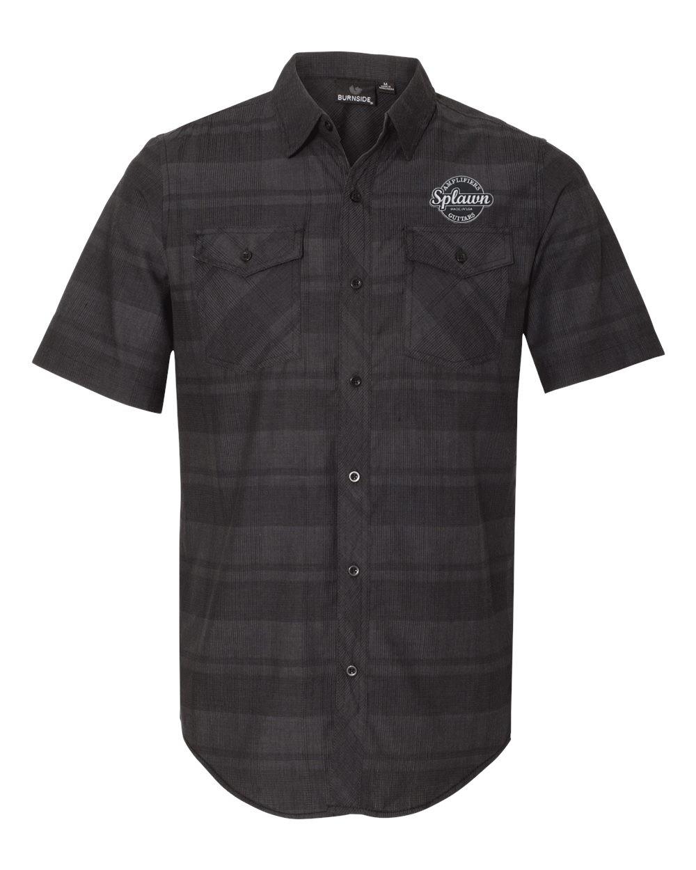 Splawn Amplification Guitars Logo Black BURNSIDE Work Shirt