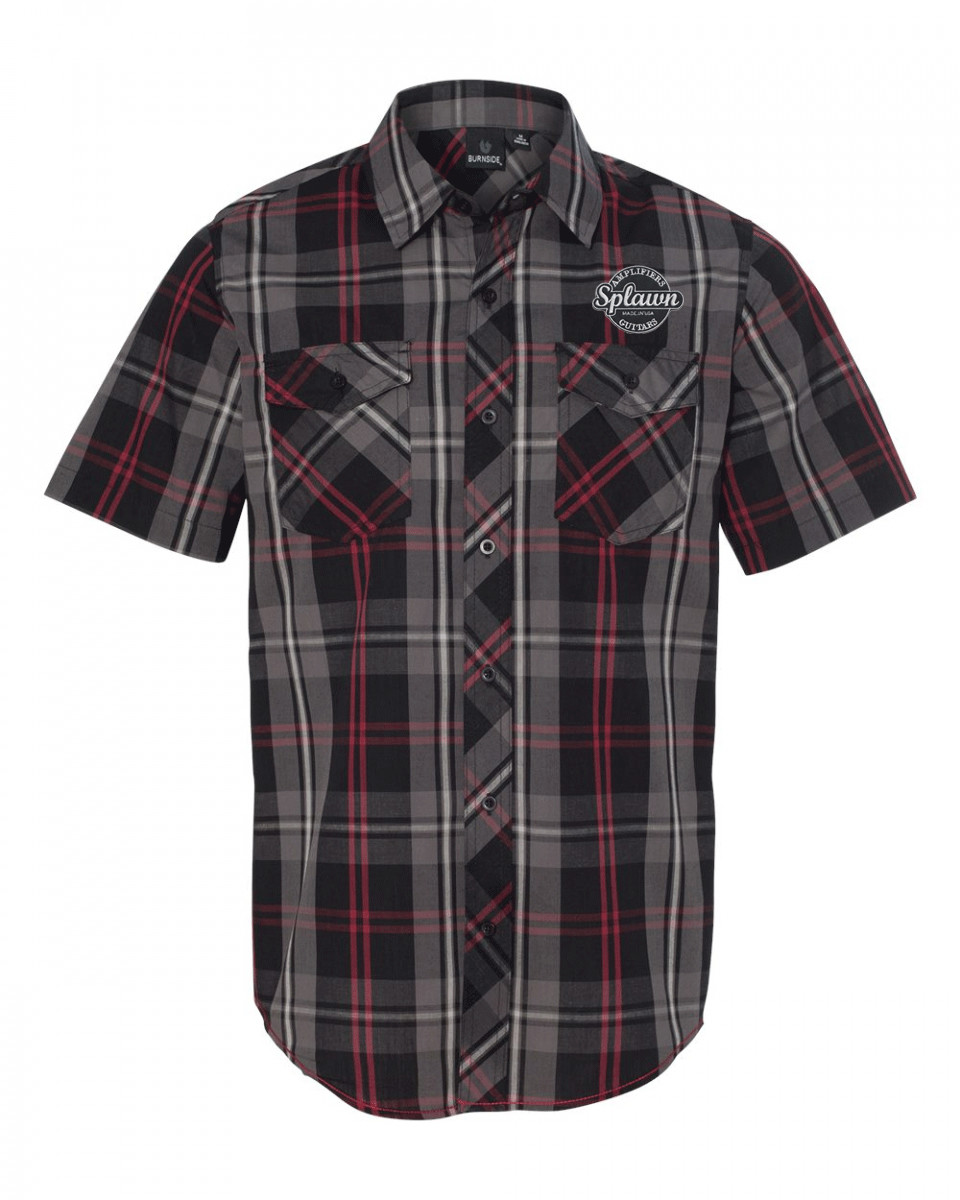 Splawn Amplification Guitars Logo Red BURNSIDE Work Shirt