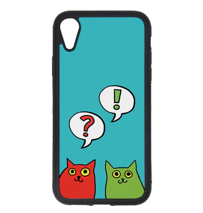 """Чехол пластиковый для айфона XR """"Разноцветные коты"""""""