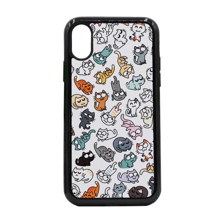 """Чехол пластиковый для айфона X/XS """"50 оттенков мяу"""""""