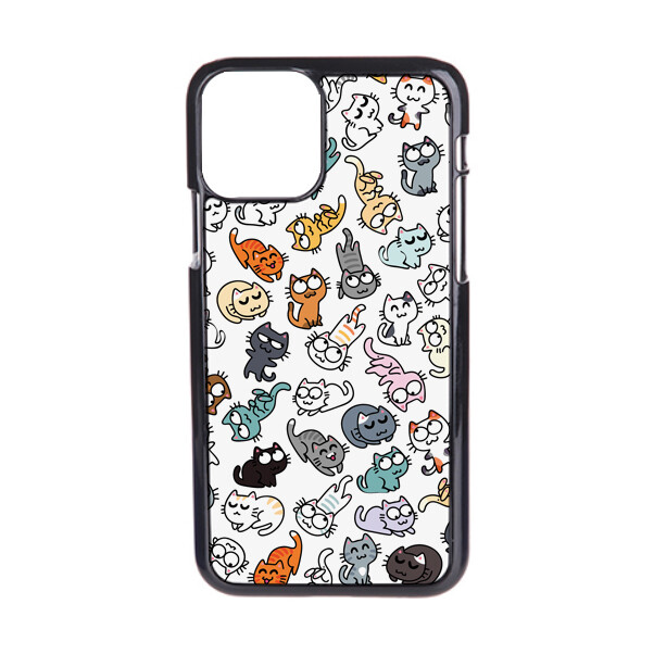 """Чехол пластиковый для айфона 11 pro max """"50 оттенков мяу"""""""