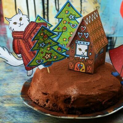 Новогоднее украшение для торта