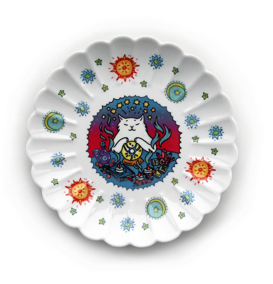 Тарелка декоративная «Кот-медиум»
