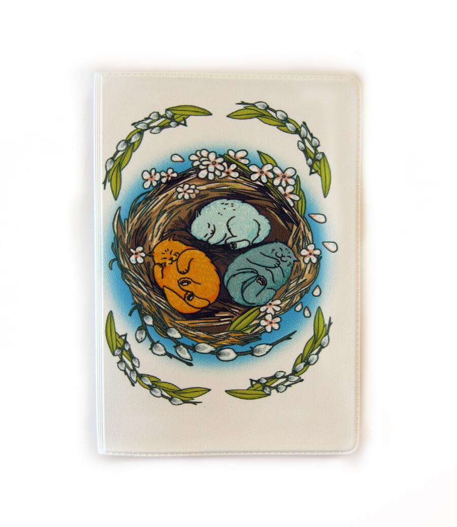 """Обложка для паспорта """"Весенние коты"""""""