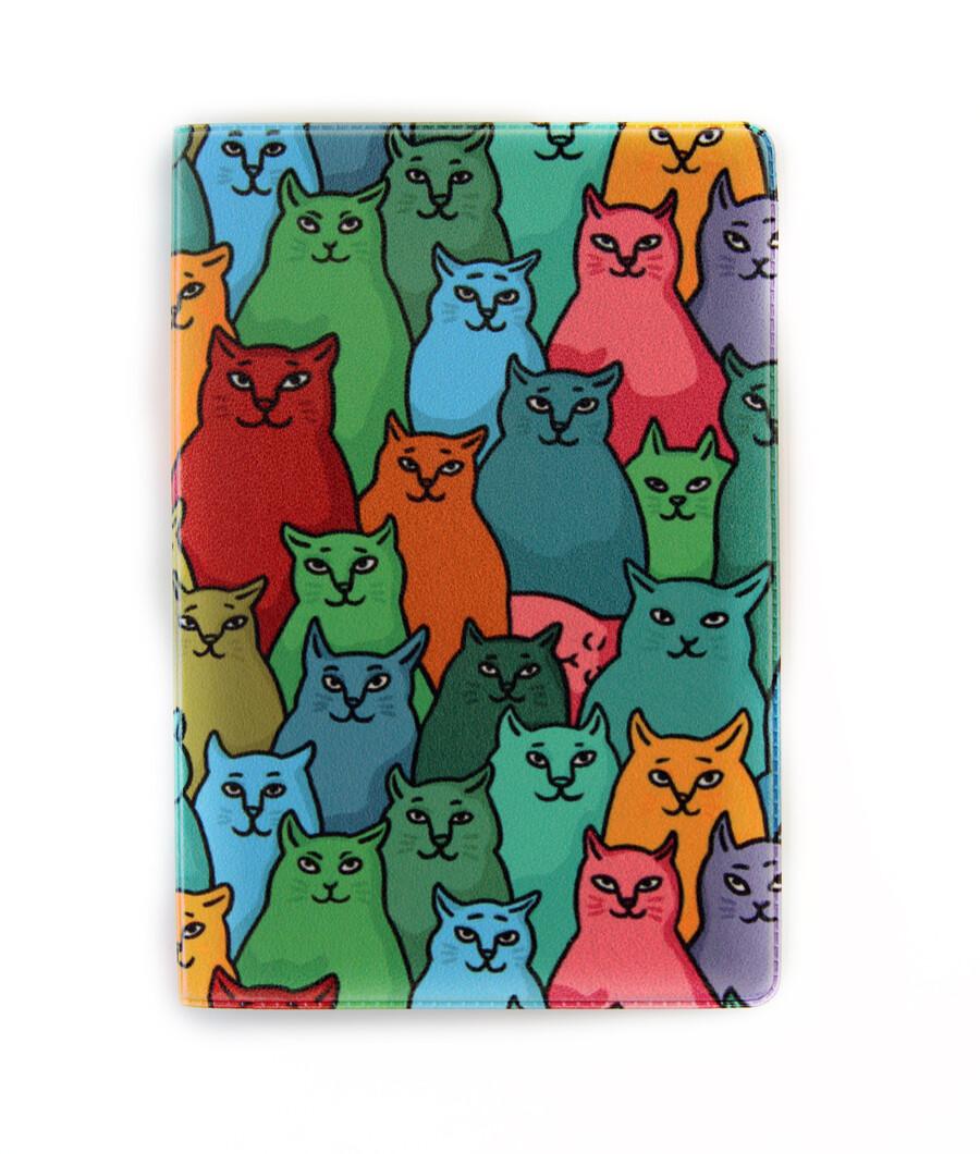 """Обложка для паспорта """"Найди спящего кота"""""""