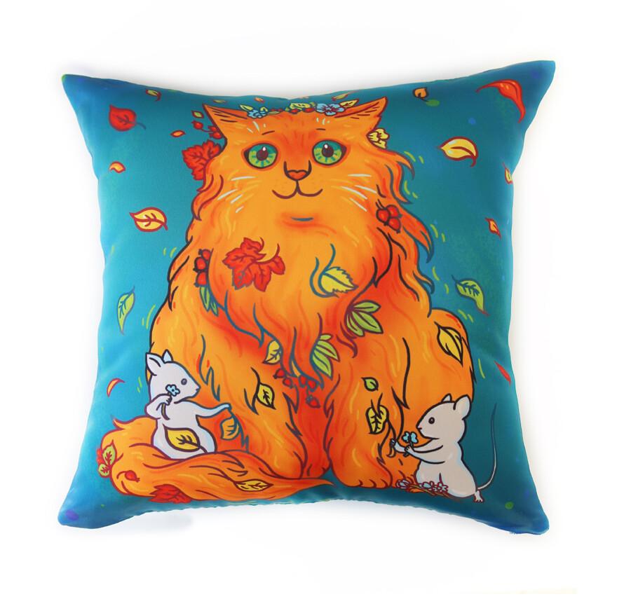 "Подушка диванная ""Кошки-мышки"""