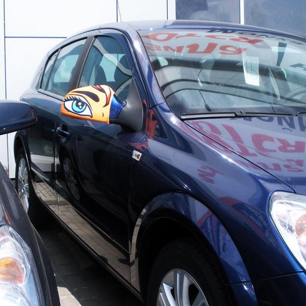 """Чехлы на боковые зеркала для автомобиля """"Зоркий глаз"""""""