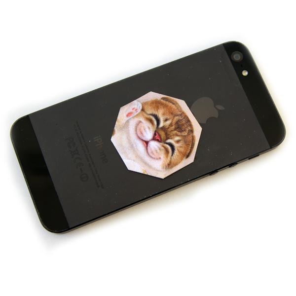 """Стикер-протирка для смартфонов """"Японская кошка"""""""