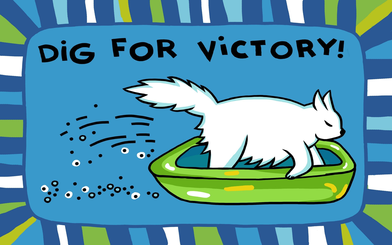 Коврик Dig for victory голубой 00858