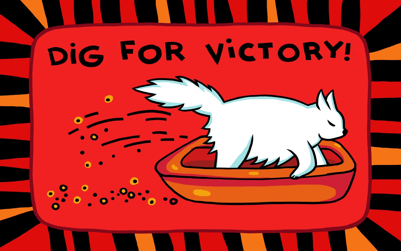 Коврик Dig for victory красный