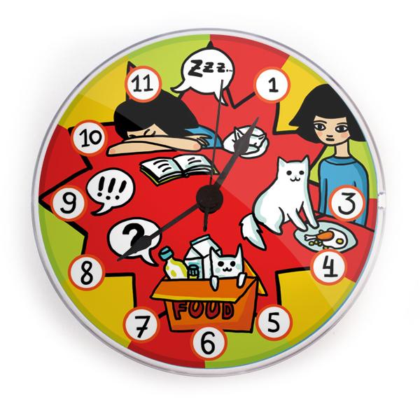 "Часы на магните ""Двое"""