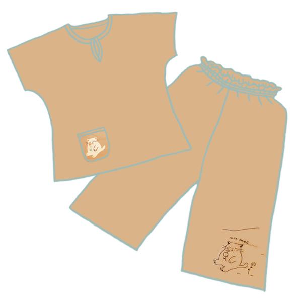 Костюм домашний (блузка + бриджи) 00416