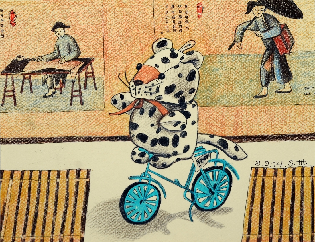 """Репродукция на фотобумаге """"Велосипед"""" 00996"""