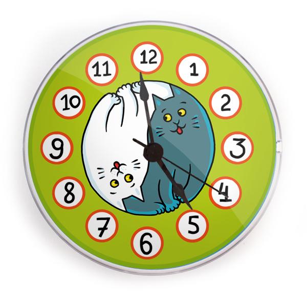"""Часы на магните """"Котоинь-янь"""" 01047"""