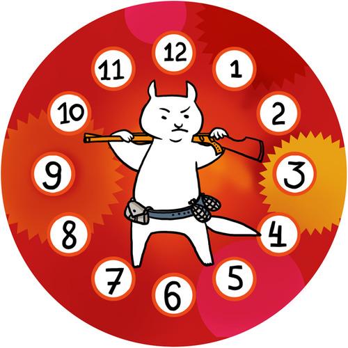 """Часы на магните """"Пушистый сторож"""" 00330"""