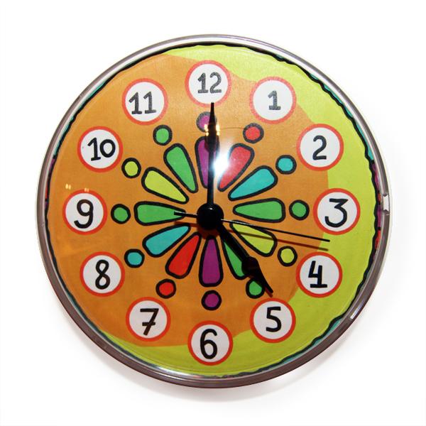 """Часы на магните """"Радуга"""""""