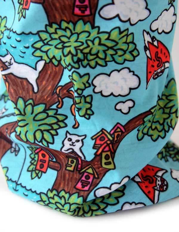 Бандана-бафф «Коты на дереве»