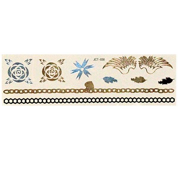 Временные флеш-тату  вариант 6 (лист 19х6 см)