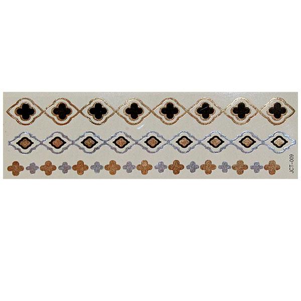 Временные флеш-тату  вариант 15 (лист 19х6 см) 01108