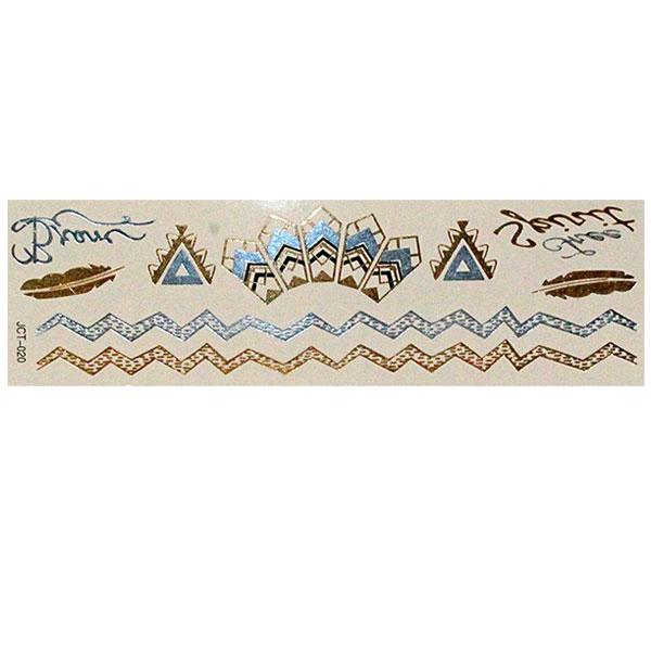 Временные флеш-тату  вариант 30 (лист 19х6 см) 01123