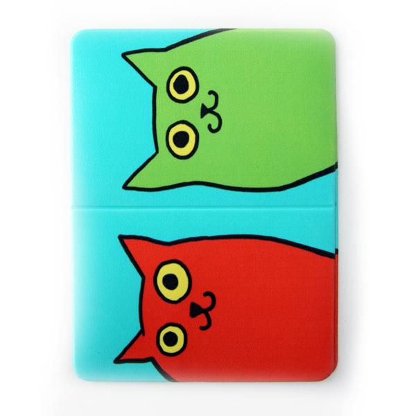 """Обложка для транспортной карты """"Разноцветные коты"""""""