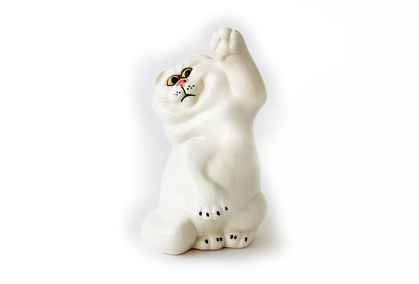 """Статуэтка фарфоровая """"Шотландская вислоухая кошка"""""""