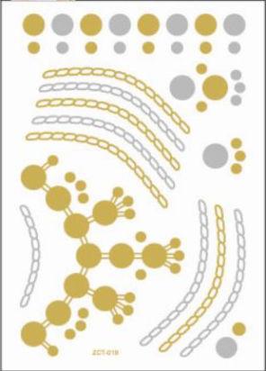 "Временные флеш-тату ""Молекулы""  (лист 14х20 см) 01244"