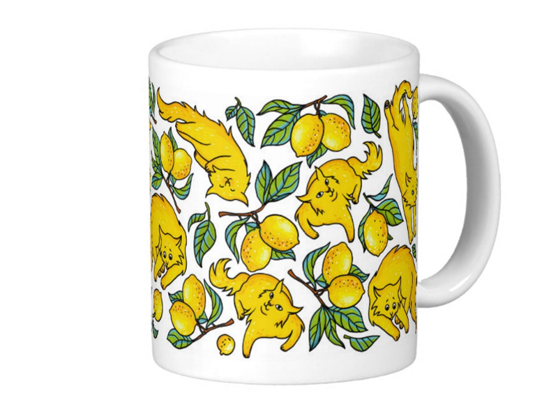 """Кружка """"Лимонные коты"""" (Уценка)"""
