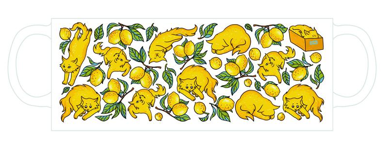 """Кружка """"Лимонные коты"""""""