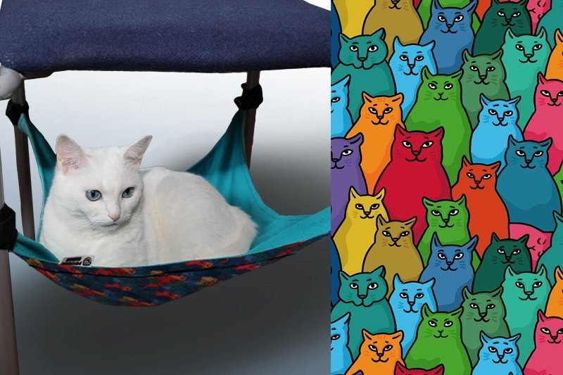 "Гамак для кошек на ножки стула ""Найди спящего кота"" 01374"