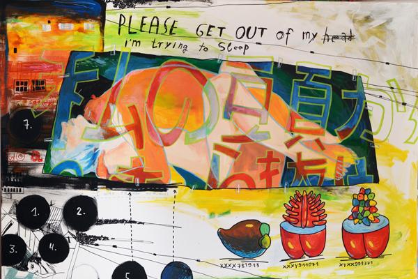 Репродукция на фотобумаге Get out of my head 00523