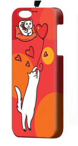 """Чехол пластиковый для айфона SE/5/ 5S """"Воздушный шарик"""" с ланъярдом 00762"""