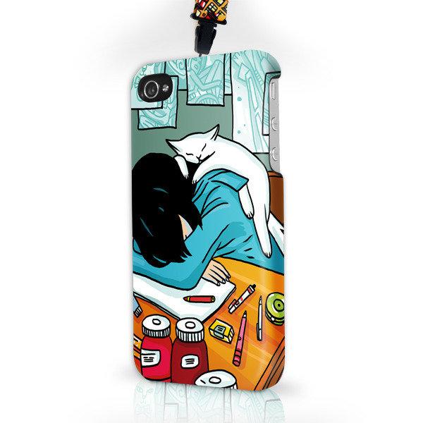 """Чехол пластиковый для айфона SE/5/ 5S """"Сон в летнюю ночь"""" с ланъярдом"""