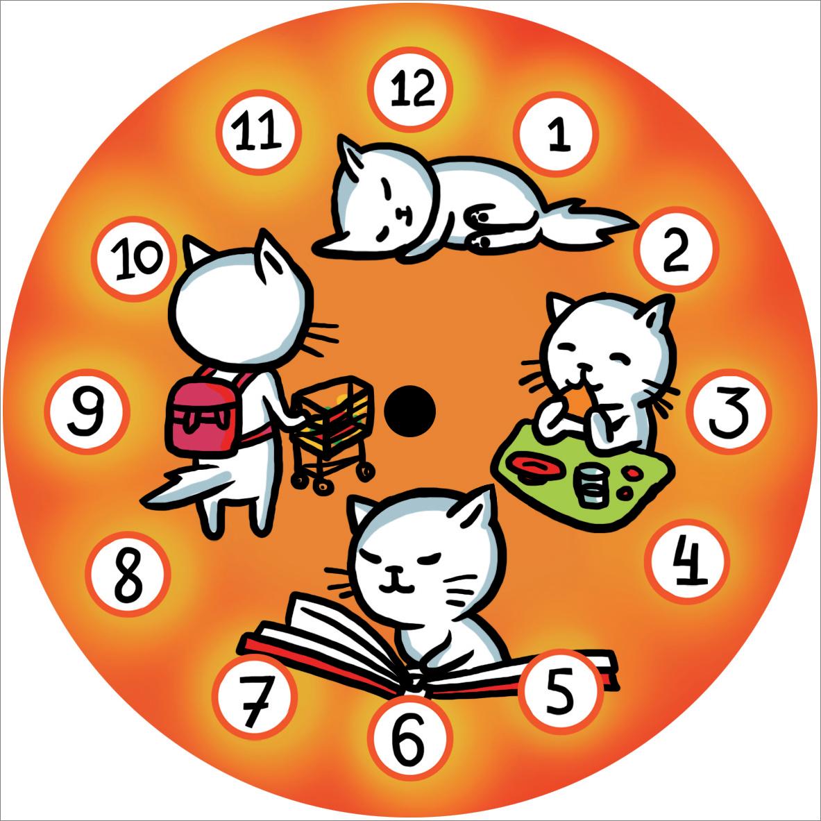 """Часы на магните """"Послушный котик"""""""